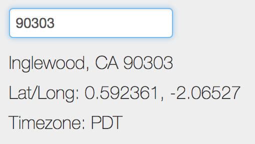 Autofill City and State from Zip Code